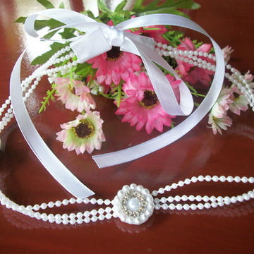 Headband em pérolas para Noivas. Luxo