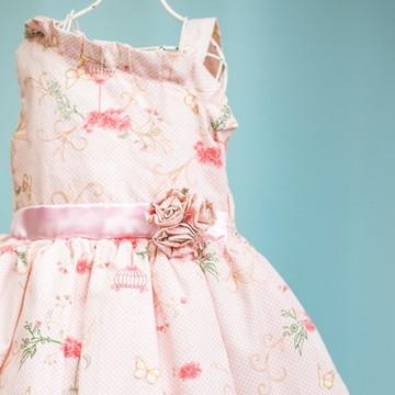 a75bf1907 Vestido Borboletas Infantil