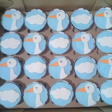 Cupcakes - Cegonha / Chá de Bebê
