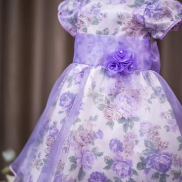 Vestido Infantil Princesinha Sofia