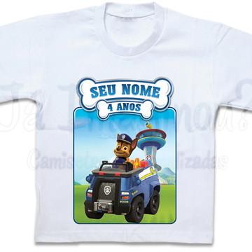 Camiseta Patrulha Canina Chase Paw Patrol