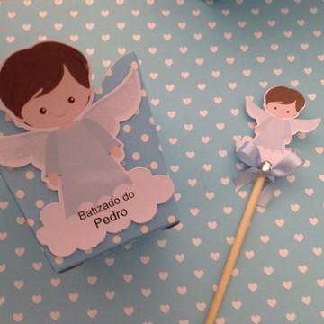 centro de mesa Batizado/anjo