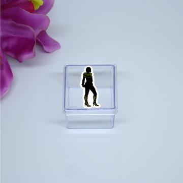 Caixinha de acrílico - silhueta feminina