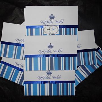 Convite de 15 Anos- Azul