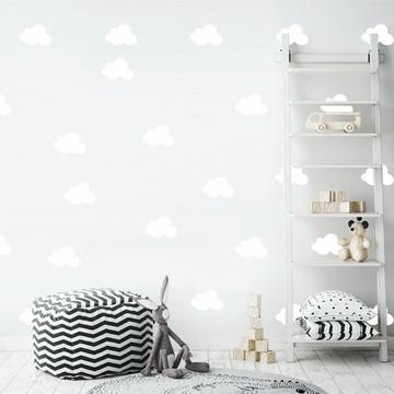 Adesivo nuvens brancas