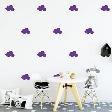 Adesivo nuvens violetas