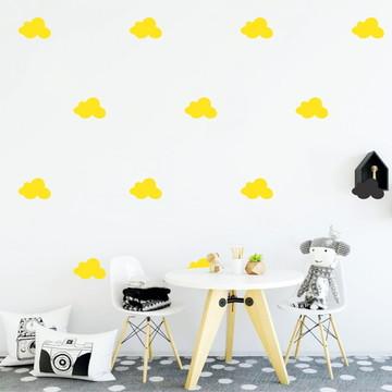 Adesivo nuvens amarelas