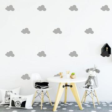 Adesivo nuvens cinza claro