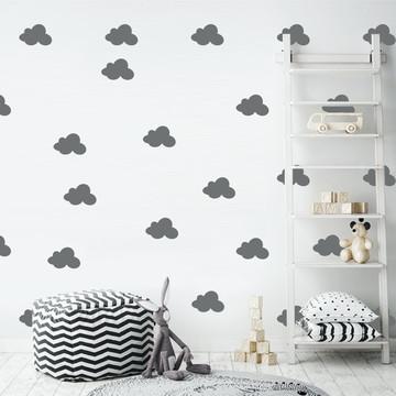 Adesivo nuvens cinza escuro
