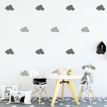 Adesivo nuvens cinzas