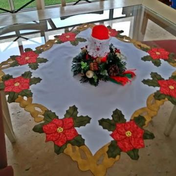 caminho de mesa flores natalinas