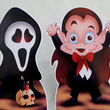 Cenário de Chão Festa Halloween