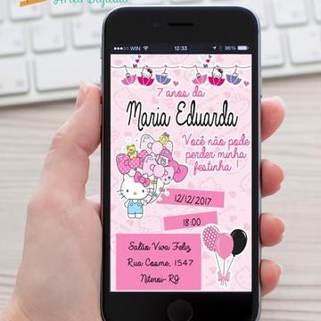 Convite Hello Kitty ZAP