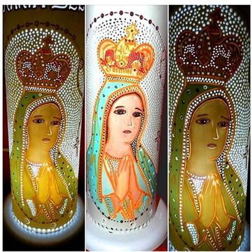 Luminária de mesa Nossa Senhora de Fátima Artigos Religiosos