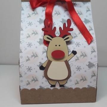 Sacola Decorada Natal com mini panetone