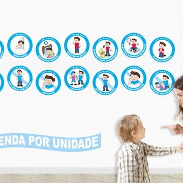 Adesivos Regras Educação Infantil Menino