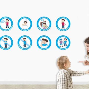 Adesivos Educativos 8 Regras Infantis