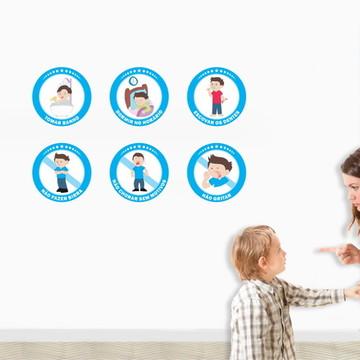 Kit Educação Infantil 6 Regras Menino