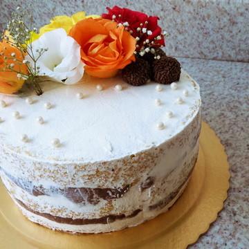 Semi Naked Cake - Flores Naturais 25 pessoas