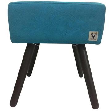Puff Banqueta Alce Couch Quadrado 40cm - Turquesa