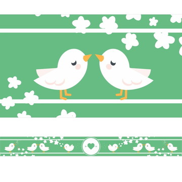 Faixa Para Quarto Pássaros e Flores