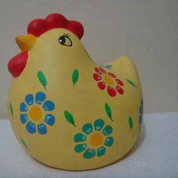 Galinha Gorda grande em cerâmica