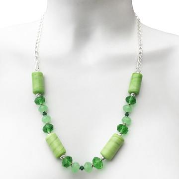 Conjunto de Cristal e Murano Verde