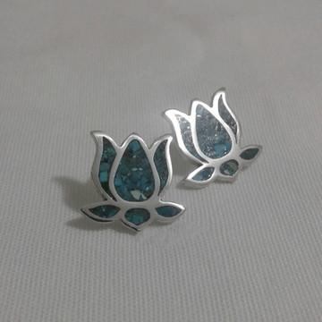 brincos flor de lótus mosaico