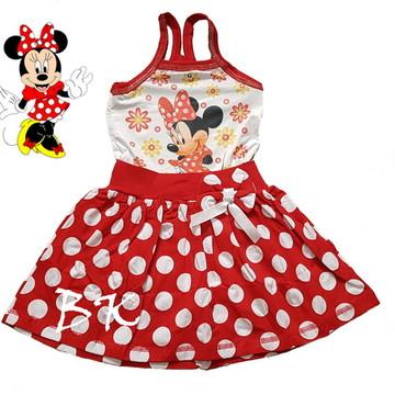 Vestido temático Minnie vermelha