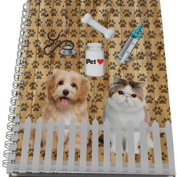 Caderno Personalizado - Profissões - Veterinaria
