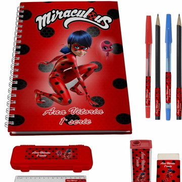 Kit Escolar + 1 Caderno - Miraculos