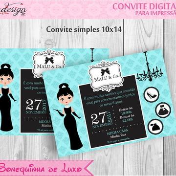 Convite Digital - Bonequinha de Luxo