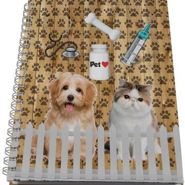 Caderno Personalizado Universitário - Veterinário