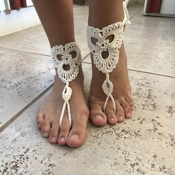 Sandália crochê sem sola - Barefoot Sandals