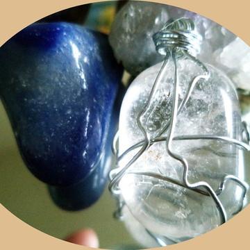 Pingente de Cristal de Quartzo Transparente