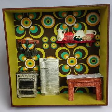 """Quadro Miniatura """"Cozinha"""""""
