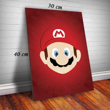 Quadro Mario Bros Tamanho 30X40