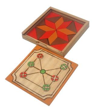 Madelinette e Mosaico - Duo de jogos artesanais em madeira