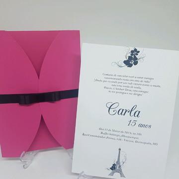 Convite Paris debutante Pink
