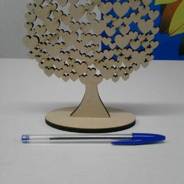 Mini Árvore corações mdf