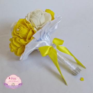Buquê para madrinhas - Amarelo e Branco