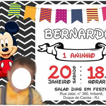 Convite Digital - Mickey #1