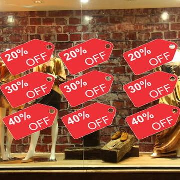 adesivos para vitrines de lojas