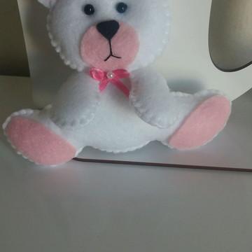 Ursinho branco de feltro