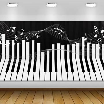 PAINÉL MUSICAL TECLADO BASE 2X1M - ARTE DIGITAL
