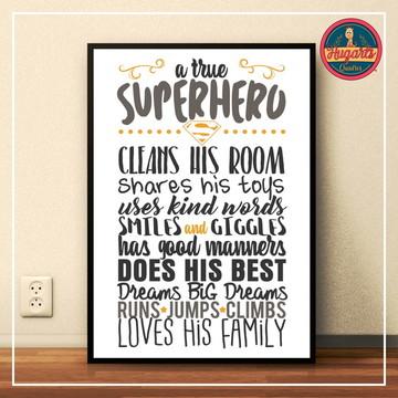 "Quadro ""Superhero"""