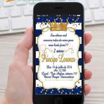 Convite Coroa menino ZAP