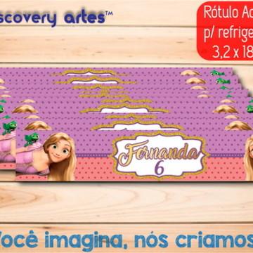 Rótulo Adesivo Refrigerante Rapunzel