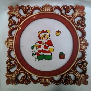 NT Quadrinho de Natal com Papai Noel e presentes