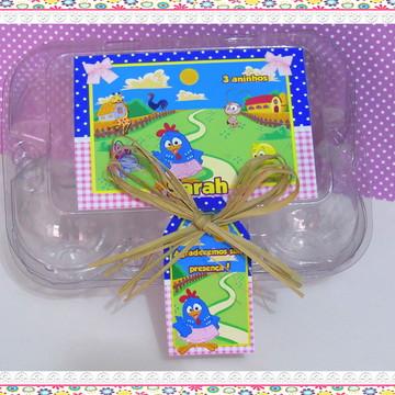 Caixinha de ovos personalizada - Acetato